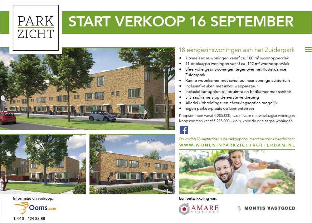 Start-verkoop-Parkzicht-Rotterdam